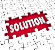 Solution Puzzle Pieces Finishing Job Solve Challenge Royalty Free Stock Photos
