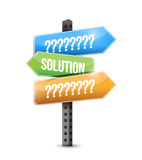 Solution and question signs illustration Royalty Free Stock Images