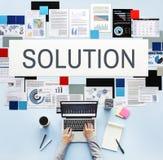 Solution résolvant le concept de décision d'amélioration de problème Image libre de droits