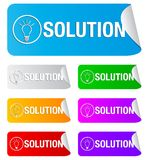 Solution, rectangular stickers Royalty Free Stock Images