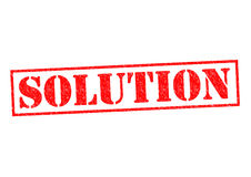 SOLUTION. Red Rubber Stamp over a white background Royalty Free Stock Image