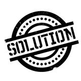 Solution rubber stamp Stock Image
