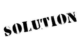 Solution rubber stamp Stock Photos