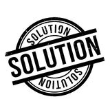 Solution rubber stamp Stock Photo
