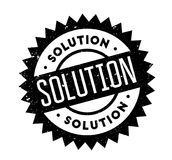 Solution rubber stamp Stock Photography