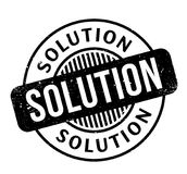 Solution rubber stamp Royalty Free Stock Photo
