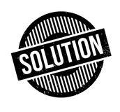 Solution rubber stamp Royalty Free Stock Photos