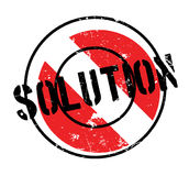 Solution rubber stamp Royalty Free Stock Photography