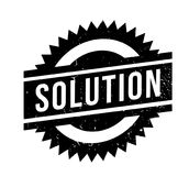 Solution rubber stamp. Grunge design with dust scratches. Effects can be easily removed for a clean, crisp look. Color is easily changed Stock Image
