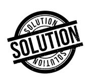 Solution rubber stamp. Grunge design with dust scratches. Effects can be easily removed for a clean, crisp look. Color is easily changed Stock Photography