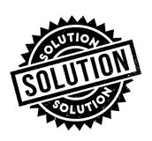 Solution rubber stamp Stock Images
