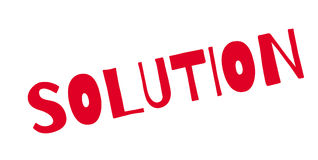 Solution rubber stamp Royalty Free Stock Image