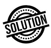 Solution rubber stamp. Grunge design with dust scratches. Effects can be easily removed for a clean, crisp look. Color is easily changed Royalty Free Stock Image