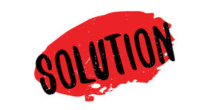 Solution rubber stamp Royalty Free Stock Images