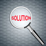 Solution search Royalty Free Stock Photos