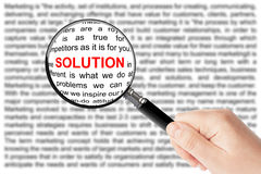 Solution sign Royalty Free Stock Photography