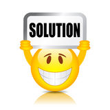 Solution sign Stock Images