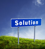 Solution single Stock Photo