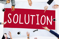 Solution Solving Problem Resolve Strategy Concept.  Royalty Free Stock Photos
