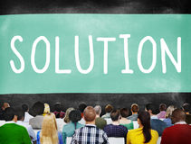 Solution Solving Problem Resolve Strategy Concept Stock Images