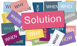 Solution Solving Problem Success Theory Concept royalty free stock photo