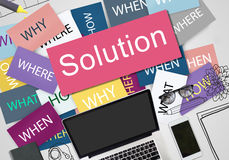Solution Solving Problem Success Theory Concept Stock Image