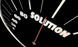 Solution Speedometer Problem Solved Fix Repaired Royalty Free Stock Photography