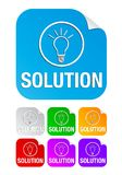 Solution, square stickers Stock Photography