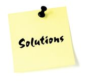 Solution sticky Note Isolated list pushpin Stock Images