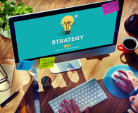 Solution Strategy Light Bulb Graphics Concept Royalty Free Stock Image