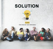 Solution Strategy Light Bulb Graphics Concept Royalty Free Stock Photography