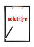 Solution symbo Royalty Free Stock Images