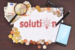 Solution symbol Stock Image