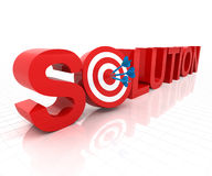 Solution with target Royalty Free Stock Image
