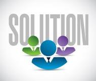 Solution team sign illustration design graphic Stock Images