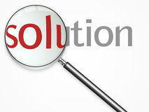 Solution text Stock Images