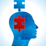 A solution to a two piece jigsaw puzzle. Business problem Royalty Free Stock Photography