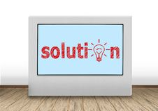 Solution on wall Royalty Free Stock Image