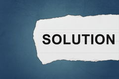 Solution with white paper tears Stock Images
