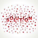 Solution word with in alphabets Royalty Free Stock Photography