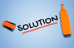 Solution word Stock Image