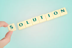 Solution word royalty free stock photo
