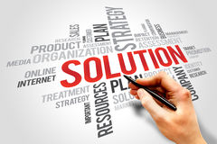 SOLUTION word cloud, business concept Stock Image