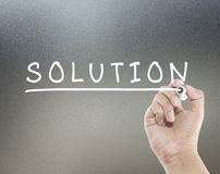 Solution word Stock Photography