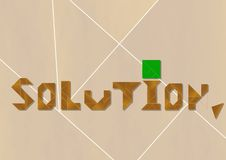 Solution - cdr format Royalty Free Stock Photos