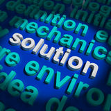 Solution Word Showing Success And Strategy Stock Photography