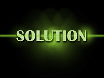 Solution Word Shows Resolve Resolution Solving Royalty Free Stock Photography