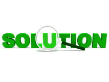 Solution Word Shows Solve Resolve Succeed Stock Photo