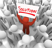 Solution Word Sign Man Holding Idea Sharing Problem FIx Royalty Free Stock Image