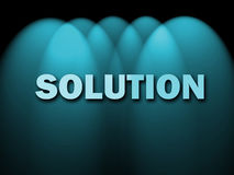 Solution Words Shows Achievement Resolution Royalty Free Stock Photo